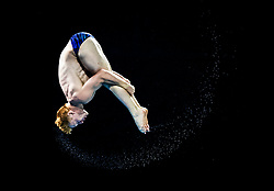 Scotland's James Heatley during the Men's 3m Springboard at the Optus Aquatic Centre during day eight of the 2018 Commonwealth Games in the Gold Coast, Australia. PRESS ASSOCIATION Photo. Picture date: Thursday April 12, 2018. See PA story COMMONWEALTH Diving. Photo credit should read: Danny Lawson/PA Wire. RESTRICTIONS: Editorial use only. No commercial use. No video emulation.