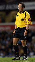 Photo: Daniel Hambury.<br />Tottenham Hotspur v Fulham. The Barclays Premiership.<br />26/09/2005.<br />Referee Alan Wiley.