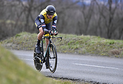 March 7, 2018 - Saint Etienne, France - SAINT-ETIENNE, FRANCE - MARCH 7 : BOOM Lars  (NED)  of Team Lotto NL - Jumbo during stage 4 of the 2018 Paris - Nice cycling race, an individual time trial over 18,4 km from La Fouillouse to Saint-Etienne on March 07, 2018 in Saint-Etienne, France, 07/03/2018 (Credit Image: © Panoramic via ZUMA Press)