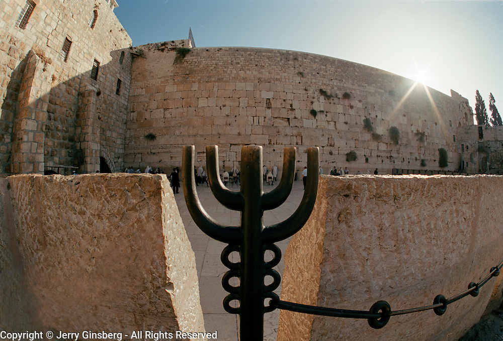 Morning at the Western Wall of King Solomon's Temple is the holiest site in Judiasm. Old city, Jerusalem, Israel
