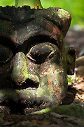 Ancient ruined statue at Ekom waterfall in the Littoral region of Cameroon
