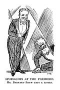 Spotlights at the Premiere. Mr. Bernard Shaw Gets a Little.