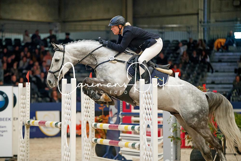 Schuurman Inga, NED, Cornet's Boy<br /> KWPN Stallionshow - 's Hertogenbosch 2018<br /> © Hippo Foto - Dirk Caremans<br /> 01/02/2018