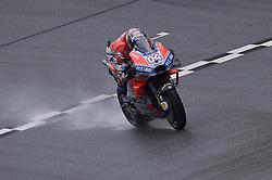 November 3, 2018 - Sepang, Malaysia - Ducati Team MotoGP rider Andrea Dovizioso of Italy powers the bike during qualifying session of Malaysian Motorcycle Grand Prix at Sepang International Circuit in Sepang, November 3, 2018. (Credit Image: © Zahim Mohd/NurPhoto via ZUMA Press)