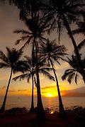 Sunset, Kamaole Beach Park, Kihei, Maui, hawaii