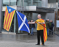 Catalonia elections solidarity rally | Edinburgh | 21 December 2017.