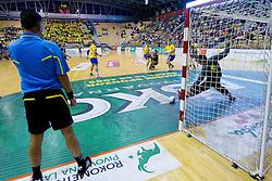 Matevz Skok of Celje during handball match between RK Celje Pivovarna Lasko and RK Gorenje Velenje in 5th Round of 1. NLB Leasing Handball League 2012/13 on October 3, 2012 in Arena Zlatorog, Celje, Slovenia. (Photo By Vid Ponikvar / Sportida)