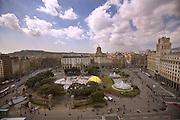 Plaza Cataluna, Barcelona, Spain.