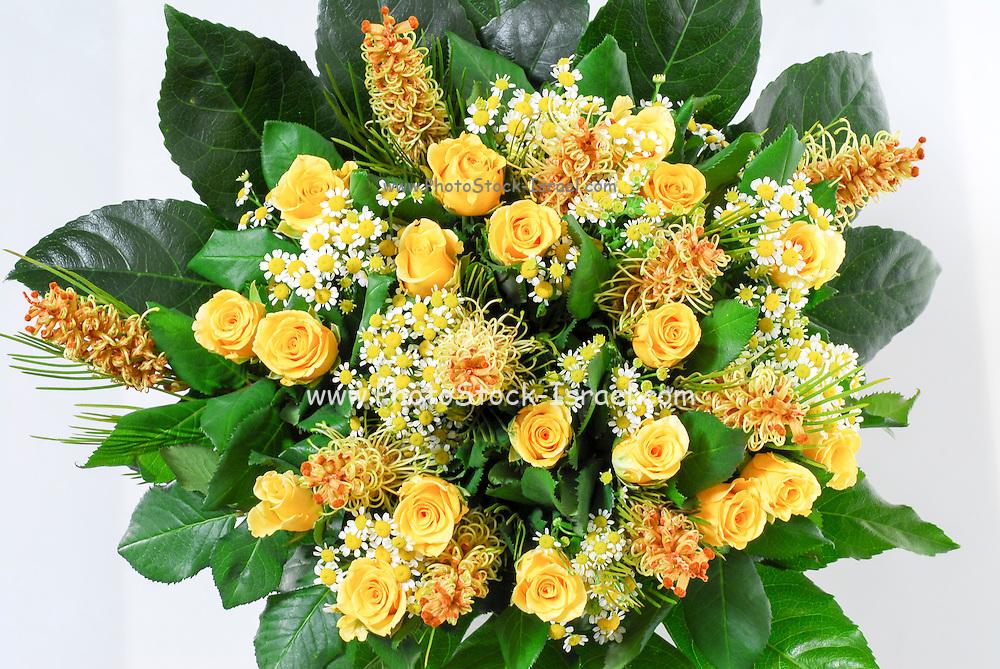 flower bouquet On white background
