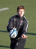 Picture by Andrew Tobin/Focus Images Ltd. 07710 761829.. 2/2/12. David Strettle in action during the England team training session held for the first time at Surrey Sports Park, Guildford, UK, before their 6-Nations game against Scotland