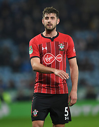 """Southampton's Jack Stephens during the Carabao Cup, fourth round match at The King Power Stadium, Leicester. PRESS ASSOCIATION Photo. Picture date: Tuesday November 27, 2018. See PA story SOCCER Leicester. Photo credit should read: Joe Giddens/PA Wire. RESTRICTIONS: EDITORIAL USE ONLY No use with unauthorised audio, video, data, fixture lists, club/league logos or """"live"""" services. Online in-match use limited to 120 images, no video emulation. No use in betting, games or single club/league/player publications."""