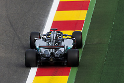 August 25, 2017 - Spa, Belgium - 44 HAMILTON Lewis from Great Britain of team Mercedes GP using the Halo during the Formula One Belgian Grand Prix at Circuit de Spa-Francorchamps on August 25, 2017 in Spa, Belgium. (Credit Image: © Xavier Bonilla/NurPhoto via ZUMA Press)