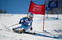 Francis Piche Invitational Giant Slalom U14 girls first run with Gunstock Ski Club.  <br /> ©2017 Karen Bobotas Photographer