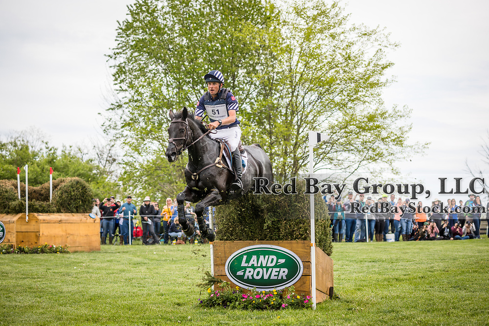 Boyd Martin (USA) and Tsetserleg during cross country at the 2019 Land Rover Kentucky Three-Day Event presented by MARS EQUESTRIAN in Lexington, Kentucky.