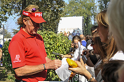 October 14, 2017 - Monza, Italy - Miguel Angel Jimenez of Spain on Day three of the Italian Open at Golf Club Milano (Credit Image: © Gaetano Piazzolla/Pacific Press via ZUMA Wire)