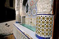 Maroc - Fès - Fès El Bali - Ensemble Nejjarine (Fontaine)