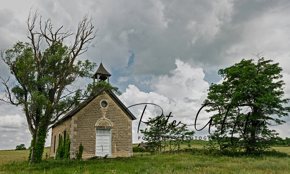 Bichet schoolhouse was built in 1896 for the children of French families who settled along the Cottonwood River near Florence, Kansas.