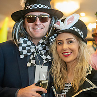 REPRO FREE<br /> Denis Murphy, Newmarket and Aine Blake, Dungarvan pictured at the 43nd Kinsale Gourmet Festival Mad Hatters Taste of Kinsale.<br /> Picture. John Allen