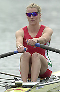 2002 FISA World Cup. Hazewinkel. BEL.       Friday  14/06/2002     .email images@Intersport-images.com.[Mandatory Credit: Peter Spurrier/Intersport Images]  .                                 /06/2002.Rowing    .GBR LW1X Kirsten McClelland Brooks Rowing, FISA WC.Hazenwinkel, BEL