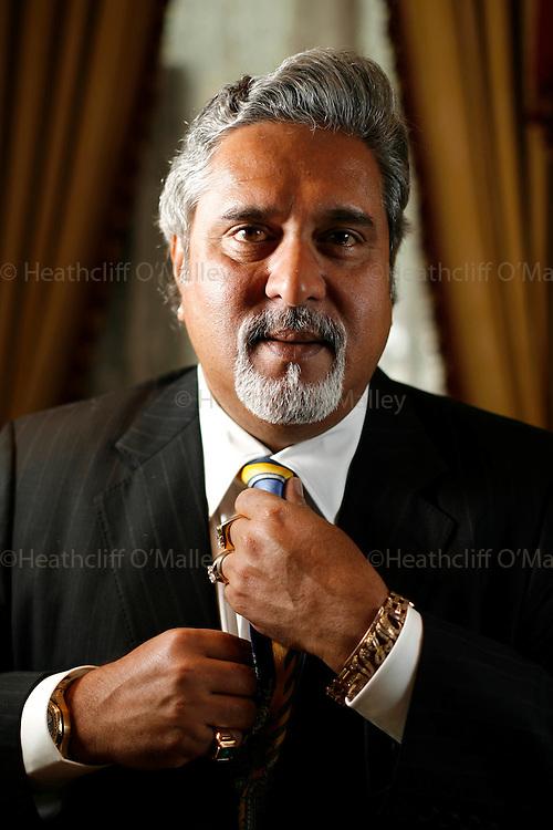 May0006302 Daily Telegraph.London 4 September 2008.Dr Vijay Mallya of Kingfisher Airlines photographed at London's Lanesborough Hotel.