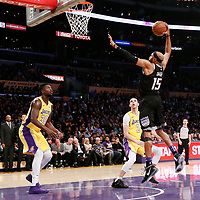 09 January 2018: Sacramento Kings guard Vince Carter (15) goes for the dunk during the LA Lakers 99-86 victory over the Sacramento Kings, at the Staples Center, Los Angeles, California, USA.