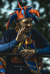 April 30, 2018 - Barcelona, Catalonia, Spain - The departing FC Barcelona midfielder A. INIESTA during the FC Barcelona's open top bus victory parade after winning the LaLiga with their eighth double in the club history (Credit Image: © Matthias Oesterle via ZUMA Wire)