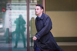 "© Licensed to London News Pictures. 26/09/2019. London, UK. Daren Timson-Hunt leaves Westminster Magistrates court after appearing for sentencing. Timson-Hunt, a trained barrister and director of a primary school academy will be sentenced today after admitting ""up skirting"" a female passenger on the Northern Line at Embankment station in London. Photo credit: Vickie Flores/LNP"