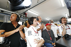June 23, 2018 - Le Castellet, France - Motorsports: FIA Formula One World Championship 2018, Grand Prix of France, ..Toto Wolff (AUT, Mercedes AMG Petronas Motorsport), Dr. Dieter Zetsche (Chairman of the Board of Management of Daimler AG, Head of Mercedes-Benz Cars), Niki Lauda (AUT, Mercedes AMG Petronas Motorsport) (Credit Image: © Hoch Zwei via ZUMA Wire)