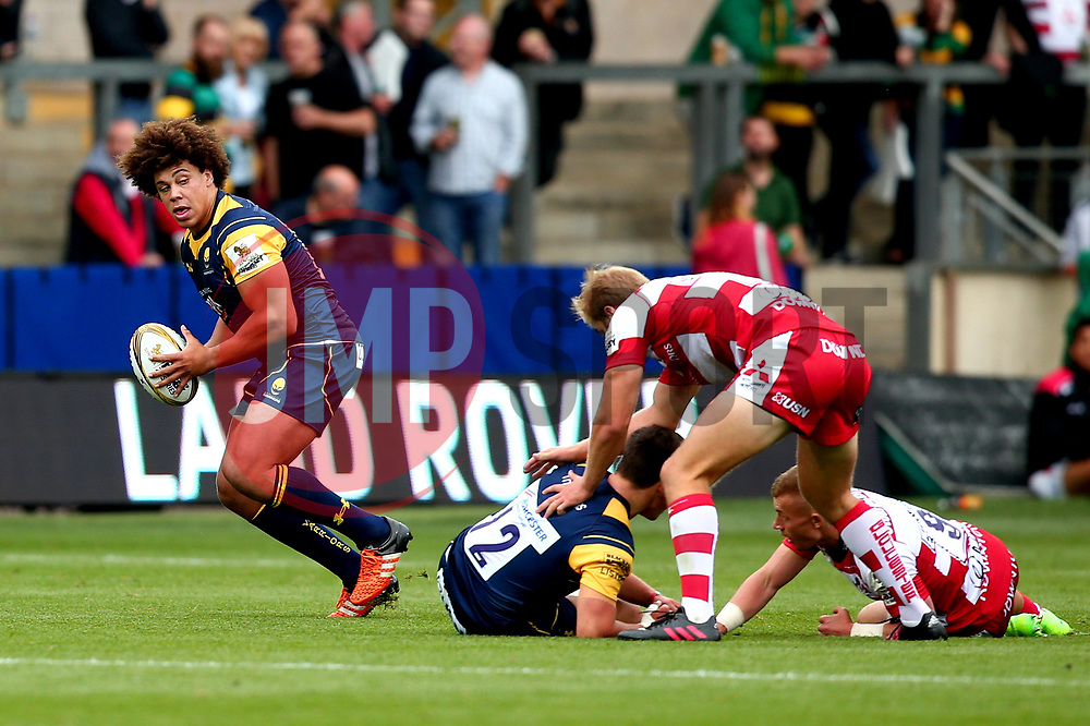 Buster Lawrence of Worcester Warriors runs with the ball - Mandatory by-line: Robbie Stephenson/JMP - 29/07/2017 - RUGBY - Franklin's Gardens - Northampton, England - Worcester Warriors v Gloucester Rugby - Singha Premiership Rugby 7s