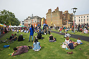 People gather at Windrush Square to celebrate the 70th anniversary of the arrival of the passenger liner, Empire Windrush, and the men and women who came to England from the Caribbean on the 23rd June 2018 in Brixton in the United Kingdom. Following the arrival of 492 passengers from the Caribbean on the 22 June 1948, it marked a seminal moment in Britain's history. (photo by Sam Mellish / In Pictures via Getty Images)
