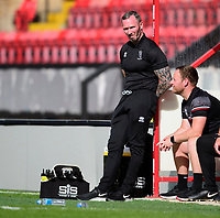 Lincoln City manager Michael Appleton, left, in his technical area<br /> <br /> Photographer Andrew Vaughan/CameraSport<br /> <br /> The EFL Sky Bet League One - Saturday 12th September  2020 - Lincoln City v Oxford United - LNER Stadium - Lincoln<br /> <br /> World Copyright © 2020 CameraSport. All rights reserved. 43 Linden Ave. Countesthorpe. Leicester. England. LE8 5PG - Tel: +44 (0) 116 277 4147 - admin@camerasport.com - www.camerasport.com - Lincoln City v Oxford United