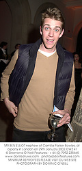 MR BEN ELLIOT nephew of Camilla Parker Bowles, at a party in London on 29th January 2002.OWZ 41