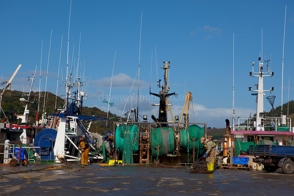 Fishing boats in the village Union Hall, West Cork, Ireland. Union Hall is synonymous with fresh fish.