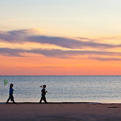 Kids on Bound Brook Island, Cape Cod National Seashore, Wellfleet, Massachusetts.