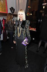 VIRGINIA BATES at the opening of Jade Jagger's shop at 43 All Saints Road, London W11 on 25th November 2009.
