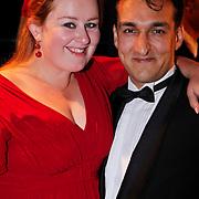 NLD/Utrecht/20101001 - NFF 2010 - Gouden Kalveren 2010 uitreiking, Eve van der Gucht en partner Domenica Mertens