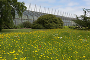 The Glasshouse at the Royal Botanical Gardens in Edinburgh, on 26th June 2019, in Edinburgh, Scotland. The Royal Botanic Garden Edinburgh RBGE is a scientific centre for the study of plants, their diversity and conservation, it was founded in 1670 as a physic garden to grow medicinal plants.