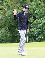 Tiernan McLarnon (AM) on the 4th green during Round 1 of the Northern Ireland Open in Association with Sphere Global & Ulster Bank at Galgorm Castle Golf Club on Thursday 6th August 2015.<br /> Picture:  Thos Caffrey / www.golffile.ie