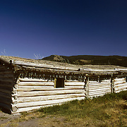 Old log cabin in Grand Teton National Park