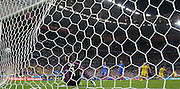 France Goalkeeper Hugo Lloris is beaten from the penalty spot by a goal from Romania Forward Bogdan Stancu during the Group A Euro 2016 match between France and Romania at the Stade de France, Saint-Denis, Paris, France on 10 June 2016. Photo by Phil Duncan.