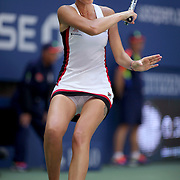 2016 U.S. Open - Day 10  Karolina Pliskova of the Czech Republic in action against Ana Konjuh of Croatia in the Women's Singles Quarterfinal match on Arthur Ashe Stadium on day ten of the 2016 US Open Tennis Tournament at the USTA Billie Jean King National Tennis Center on September 7, 2016 in Flushing, Queens, New York City.  (Photo by Tim Clayton/Corbis via Getty Images)