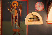 Painting of the Archangel Michael, Krka Monastery, Krka National Park, Dalmatia, Croatia