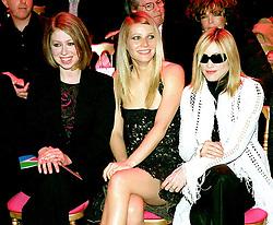 Jan 19, 2002; Paris, France; Former 1st daughter CHELSEA CLINTON, actress GWYNETH PALTROW & pop star MADONNA @ the Versace Fashion Show in Paris..  (Credit Image: Visual/ZUMAPRESS.com)
