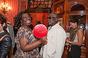 ELLEN THOMAS; RUDOLPH WALKER, West End opening of RSC production of Julius Caesar at the Noel Coward Theatre on Saint Martin's Lane. After-party  at Salvador and Amanda, Gt. Newport St. London. 15 August 2012.