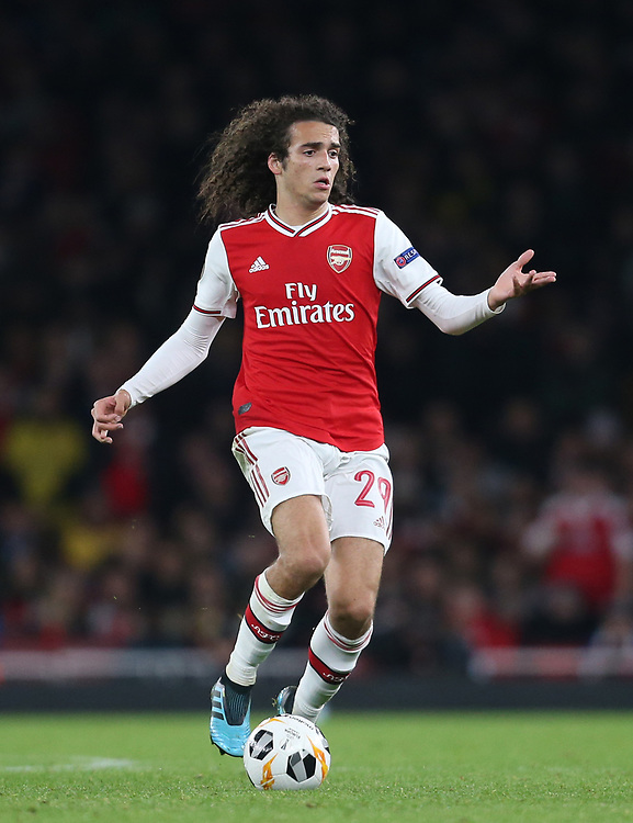 Arsenal's Matteo Guendouzi<br /> <br /> Photographer Rob Newell/CameraSport<br /> <br /> UEFA Europa League group F - Arsenal v Vitoria Guimaraes - Thursday 24th October 2019  - Emirates Stadium - London<br />  <br /> World Copyright © 2018 CameraSport. All rights reserved. 43 Linden Ave. Countesthorpe. Leicester. England. LE8 5PG - Tel: +44 (0) 116 277 4147 - admin@camerasport.com - www.camerasport.com
