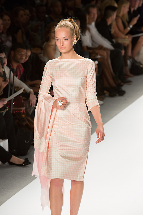 Pink checked dress. By Zang Toi, shown at his Spring 20132 Fashion Week show in New York.