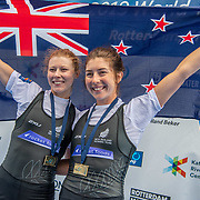 Zoe McBride & Jackie Kiddle , New Zealand elite  Womens Lightweight Double Scull<br /> <br /> Compete in the A Finals at FISA World Rowing Cup III on Sunday 14 July 2019 at the Willem Alexander Baan,  Zevenhuizen, Rotterdam, Netherlands. © Copyright photo Steve McArthur / www.photosport.nz