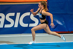 Myke van de Wiel in action on the 200 meter during AA Drink Dutch Athletics Championship Indoor on 21 February 2021 in Apeldoorn.