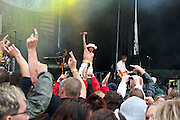 The Kids, band from Norway, playing at Sommerfestivalen in Selbu. Sommerfestivalen i Selbu er en av Norges største musikkfestivaler. Sommerfestivalen is one of the biggest music festivals in Norway. Dag Ingebrigtsen, The Kids.