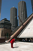 Photographer on drawbridge  Chicago, IL